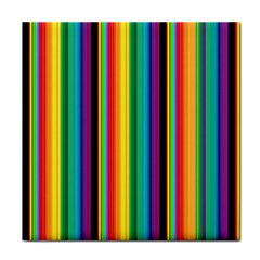 Multi Colored Colorful Bright Stripes Wallpaper Pattern Background Face Towel