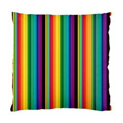 Multi Colored Colorful Bright Stripes Wallpaper Pattern Background Standard Cushion Case (One Side)