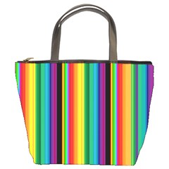 Multi Colored Colorful Bright Stripes Wallpaper Pattern Background Bucket Bags
