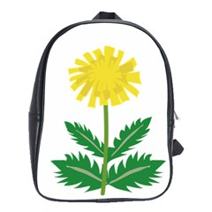 Sunflower Floral Flower Yellow Green School Bags(Large)