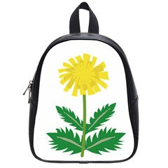 Sunflower Floral Flower Yellow Green School Bags (Small)