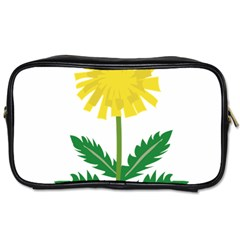 Sunflower Floral Flower Yellow Green Toiletries Bags 2-Side