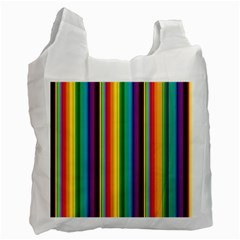 Multi Colored Colorful Bright Stripes Wallpaper Pattern Background Recycle Bag (One Side)