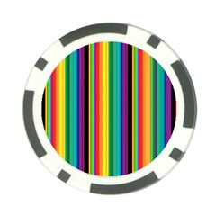Multi Colored Colorful Bright Stripes Wallpaper Pattern Background Poker Chip Card Guard (10 pack)