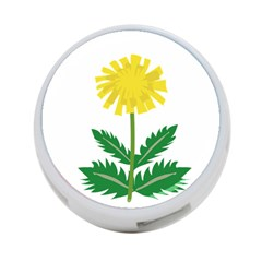 Sunflower Floral Flower Yellow Green 4-Port USB Hub (Two Sides)