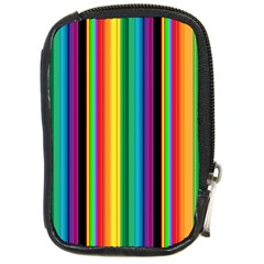 Multi Colored Colorful Bright Stripes Wallpaper Pattern Background Compact Camera Cases