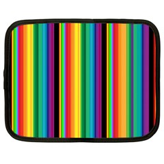 Multi Colored Colorful Bright Stripes Wallpaper Pattern Background Netbook Case (XL)