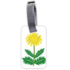 Sunflower Floral Flower Yellow Green Luggage Tags (Two Sides)