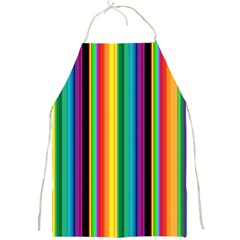 Multi Colored Colorful Bright Stripes Wallpaper Pattern Background Full Print Aprons