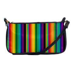 Multi Colored Colorful Bright Stripes Wallpaper Pattern Background Shoulder Clutch Bags