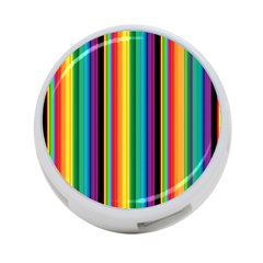 Multi Colored Colorful Bright Stripes Wallpaper Pattern Background 4-Port USB Hub (Two Sides)