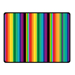 Multi Colored Colorful Bright Stripes Wallpaper Pattern Background Fleece Blanket (small)