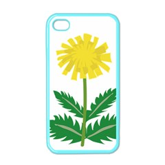 Sunflower Floral Flower Yellow Green Apple iPhone 4 Case (Color)