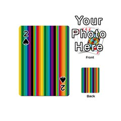 Multi Colored Colorful Bright Stripes Wallpaper Pattern Background Playing Cards 54 (mini)