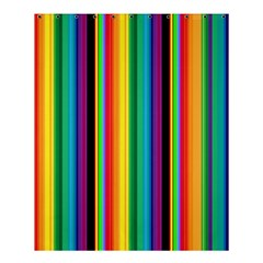 Multi Colored Colorful Bright Stripes Wallpaper Pattern Background Shower Curtain 60  X 72  (medium)
