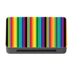 Multi Colored Colorful Bright Stripes Wallpaper Pattern Background Memory Card Reader with CF