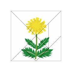 Sunflower Floral Flower Yellow Green Acrylic Tangram Puzzle (4  x 4 )