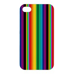 Multi Colored Colorful Bright Stripes Wallpaper Pattern Background Apple Iphone 4/4s Hardshell Case
