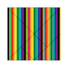Multi Colored Colorful Bright Stripes Wallpaper Pattern Background Acrylic Tangram Puzzle (6  X 6 )