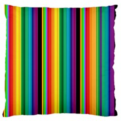 Multi Colored Colorful Bright Stripes Wallpaper Pattern Background Large Cushion Case (One Side)