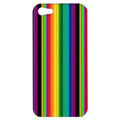 Multi Colored Colorful Bright Stripes Wallpaper Pattern Background Apple iPhone 5 Hardshell Case