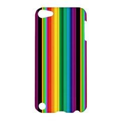 Multi Colored Colorful Bright Stripes Wallpaper Pattern Background Apple iPod Touch 5 Hardshell Case