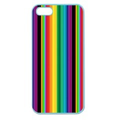 Multi Colored Colorful Bright Stripes Wallpaper Pattern Background Apple Seamless iPhone 5 Case (Color)