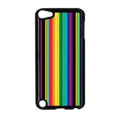 Multi Colored Colorful Bright Stripes Wallpaper Pattern Background Apple Ipod Touch 5 Case (black)
