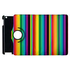 Multi Colored Colorful Bright Stripes Wallpaper Pattern Background Apple Ipad 3/4 Flip 360 Case