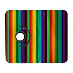 Multi Colored Colorful Bright Stripes Wallpaper Pattern Background Galaxy S3 (Flip/Folio)