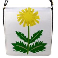 Sunflower Floral Flower Yellow Green Flap Messenger Bag (S)