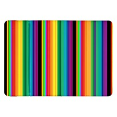 Multi Colored Colorful Bright Stripes Wallpaper Pattern Background Samsung Galaxy Tab 8 9  P7300 Flip Case