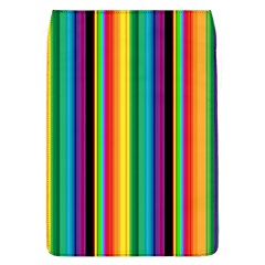 Multi Colored Colorful Bright Stripes Wallpaper Pattern Background Flap Covers (L)