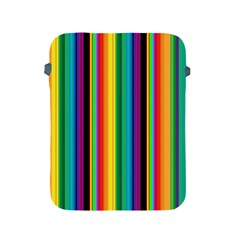 Multi Colored Colorful Bright Stripes Wallpaper Pattern Background Apple Ipad 2/3/4 Protective Soft Cases