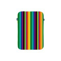 Multi Colored Colorful Bright Stripes Wallpaper Pattern Background Apple iPad Mini Protective Soft Cases