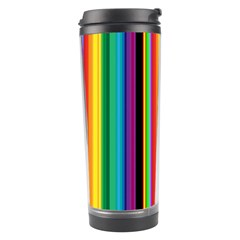Multi Colored Colorful Bright Stripes Wallpaper Pattern Background Travel Tumbler
