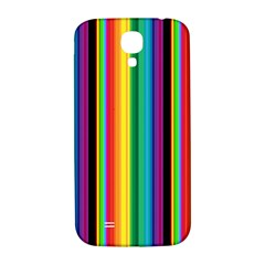 Multi Colored Colorful Bright Stripes Wallpaper Pattern Background Samsung Galaxy S4 I9500/i9505  Hardshell Back Case