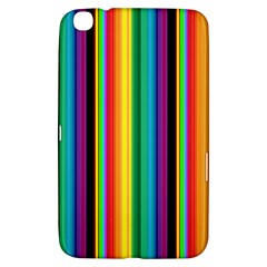 Multi Colored Colorful Bright Stripes Wallpaper Pattern Background Samsung Galaxy Tab 3 (8 ) T3100 Hardshell Case