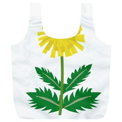 Sunflower Floral Flower Yellow Green Full Print Recycle Bags (L)