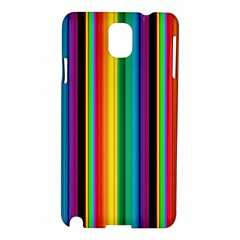 Multi Colored Colorful Bright Stripes Wallpaper Pattern Background Samsung Galaxy Note 3 N9005 Hardshell Case