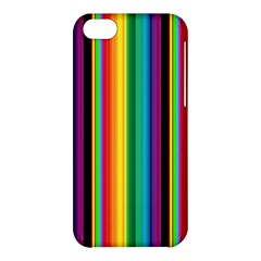 Multi Colored Colorful Bright Stripes Wallpaper Pattern Background Apple iPhone 5C Hardshell Case