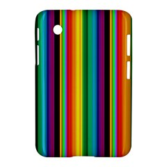 Multi Colored Colorful Bright Stripes Wallpaper Pattern Background Samsung Galaxy Tab 2 (7 ) P3100 Hardshell Case