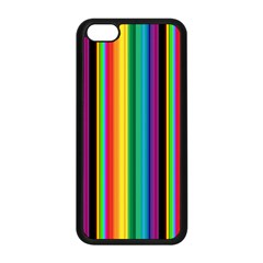 Multi Colored Colorful Bright Stripes Wallpaper Pattern Background Apple Iphone 5c Seamless Case (black)