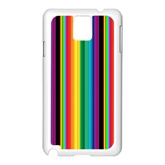 Multi Colored Colorful Bright Stripes Wallpaper Pattern Background Samsung Galaxy Note 3 N9005 Case (white)