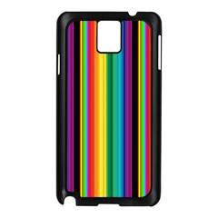 Multi Colored Colorful Bright Stripes Wallpaper Pattern Background Samsung Galaxy Note 3 N9005 Case (black)