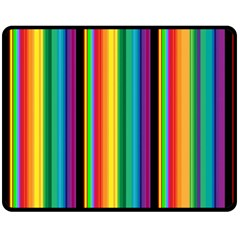 Multi Colored Colorful Bright Stripes Wallpaper Pattern Background Double Sided Fleece Blanket (Medium)