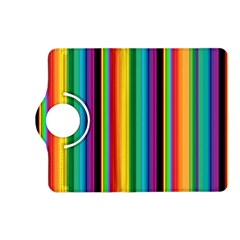 Multi Colored Colorful Bright Stripes Wallpaper Pattern Background Kindle Fire Hd (2013) Flip 360 Case