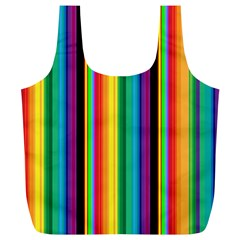 Multi Colored Colorful Bright Stripes Wallpaper Pattern Background Full Print Recycle Bags (l)