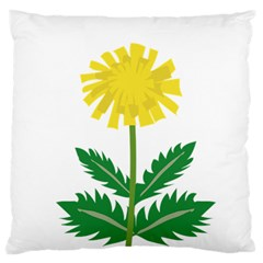 Sunflower Floral Flower Yellow Green Large Flano Cushion Case (One Side)