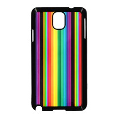 Multi Colored Colorful Bright Stripes Wallpaper Pattern Background Samsung Galaxy Note 3 Neo Hardshell Case (Black)